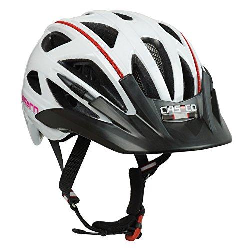 Fahrradhelm für Kinder Casco Activ 2 Junior, weiß-pink glanz - Biese rot, Gr. S (52-56 cm)