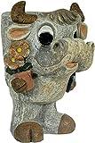Unbekannt Gartenfigur Kuh als Pflanztopf mit Toller Steinoptik Garten Dekoration Figur
