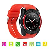 About the V8 Smart Watch: 1. 2017 Brand new and High Quality. 2. CPU: MTK6261D 3. Memory: 32MB + 32MB, support an external Micro SD card, up to 32GB (Micro SD card not included). 4. 1.22 Inch 240x240 IPS HD full circle display. 5. Touch Screen: OGS c...