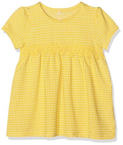 NAME IT Baby-Mädchen NMFHABI SS TUNIC Kleid, Gelb (Primrose Yellow), (Herstellergröße: 92)