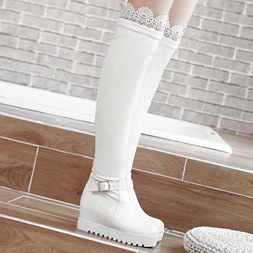 AIYOUMEI , Bottes classiques femme Weiß
