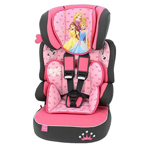 mycarsit Autositz und Sitzerhöhung Disney, Gruppe 1/2/3(von 9bis 36kg), Motiv Princess