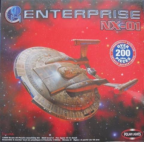 Star Trek 1:350 Scale ENTERPRISE NX-01 MODEL KIT (OVER 200 PIECES!) - POLAR LIGHTS - VERY RARE! by Polar Lights
