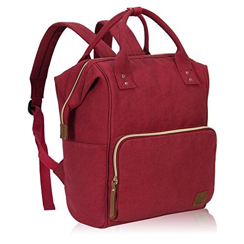 Imagen de veevan bolso  casual de lona para ordenador portátil de 15,6 pulgadas unisex rojo 02  alternativa