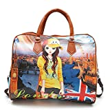 #8: ShoppoZone Digital Printed Travel Hobo Bag -Multi-color