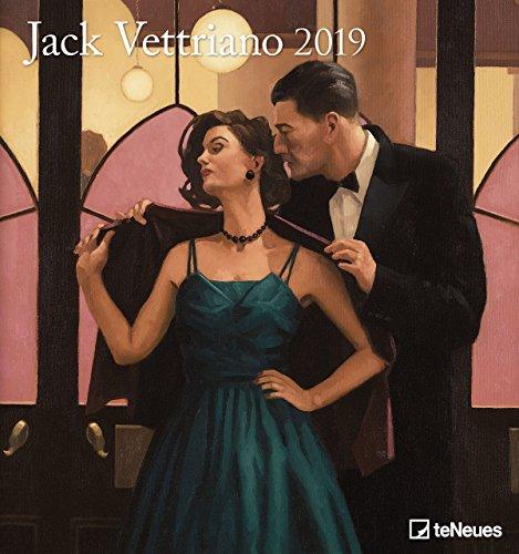 Jack Vettriano - Kalender 2019 - teNeues-Verlag - Kunstkalender - Wandkalender mit zeitgenössischer Kunst - 45 cm x 48 cm - Amerikanischen Pop-art