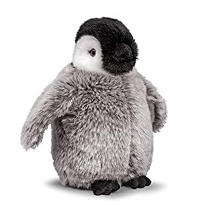 Tobar-Tobar-37241-Peluche bebé pingüino, Animigos World of Nature, 37241, marrón