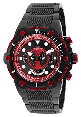 Invicta Marvel Herren-Armbanduhr Armband Edelstahl + Gehäuse Quarz 27324