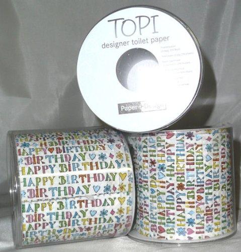 1 Stück LOLLIPOP® 'Happy Birthday'-Toilettenpapier-Rolle, 3-lagig, 200 Blatt