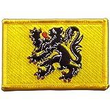 Écusson brodé Flag Patch Belgique Flandre - 8 x 6 cm