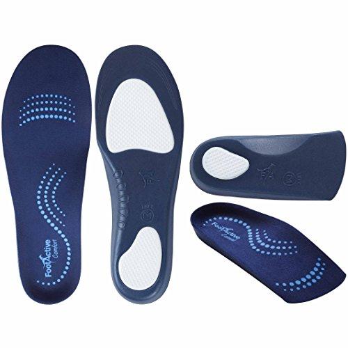FootActive Double Boomer - Zur Unterstützung für Ferse, Fuß und Rücken - Stabiler Laufkomfort - 2 Paar Sohlen in 1 Paket!