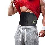 Just Fitter Waist Trimmer & Slimmer Belt. Sport- und Fitnessgürtel für Männer und Frauen. Dieser Training Belt ist vollkommen verstellbar, für verbesserten Komfort. Ein Bauchgürtel zum Abnehmen am Bauch, der beste Unterstützung für den unteren Rücken &...