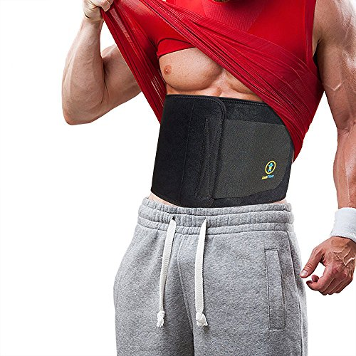 Pflicht Der Brust (Just Fitter Waist Trimmer & Slimmer Belt. Sport- und Fitnessgürtel für Männer und Frauen. Dieser Training Belt ist vollkommen verstellbar, für verbesserten Komfort. Ein Bauchgürtel zum Abnehmen am Bauch, der beste Unterstützung für den unteren Rücken &...)