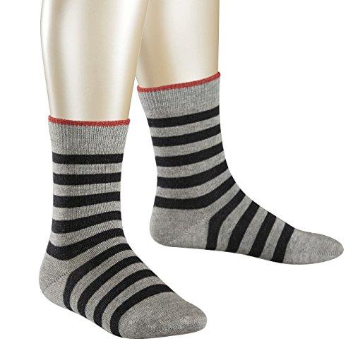 Preisvergleich Produktbild Falke Children Casual Socken Double Stripe 6er Pack, Größe:19-22;Farbe:Light Grey (3401)