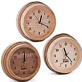 Sawo–Orologio in legno di pino, Aspen o cedro; dimensioni: Ø 260mm; per utilizzo esterno di cabina sauna o interno a infrarossi sauna