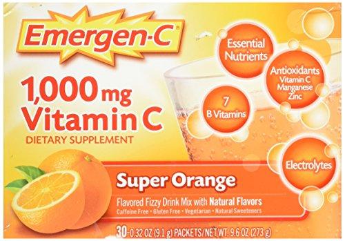 Tangerine-drink-mix (Emergen-C Vitamin C Fizzy Drink Mix Super Orange -- 1000 mg - 30 Packets)