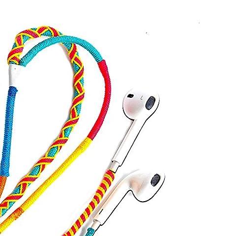 UliX Calypso Premium Kopfhörer NEU geflochtenes Kabel, In Ear Kopfhörer – Verhedderfrei – für Sport, Strand, Berge, Wandern, für Athleten, Earpods für Samsung iPhone Smartphone, robustes Kabel -