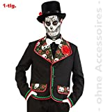 FRIES Herren Kostüm Tag der Toten Skelett Jacke Halloween Gr.XL