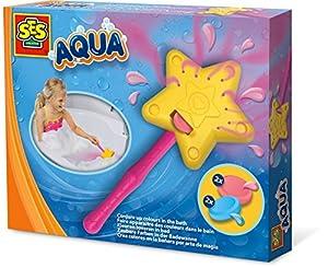 SES Creative Aqua CREA Colores en la bañera por Arte de Magia - Juegos, Juguetes y Pegatinas de baño (Juguete de baño, Niños, 3 año(s), Niño/niña, Rosa, Amarillo, Países Bajos)