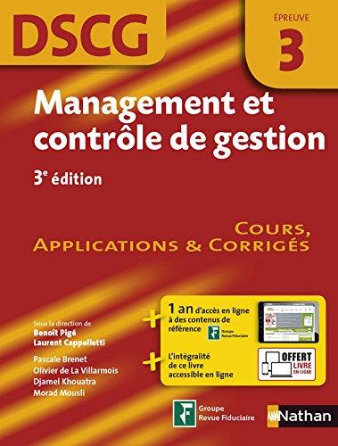 Management et contrôle de gestion - DSCG 3