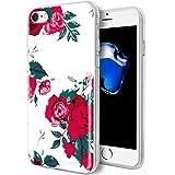 iPhone 7Fall, iPhone 8Fall KGD [Blumen] Serie [Flexible Soft TPU Gummi Silikon] Cover mit [IMD Glossy Muster] für iPhone 7/8Fall