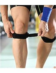BUSL Rótula con hombres y mujeres que dirigen la rodilla de baloncesto de los deportes de montar el equipo de protección de fitness (instalado un par) con una rótula lesión de menisco
