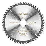 S&R Lama per Sega Circolare 190mm. Disco Smerigliatrice Taglio Legno Professionale (190 x 30 x 2,4 mm 48 Denti)
