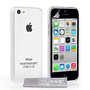 Yousave Accessories Silikon-Schutzhülle für iPhone 5°C (Grip, 1Stück