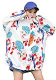 Emmala Estivi Stampato Libero Giubbino Donna Sportivo Giacca Leggero Tempo Sciolto Zip Fidanzato Eleganti Lunghe Primaverile Maniche Outwear Coat (Color : B, Size : L)