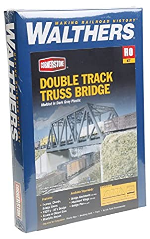 Walthers Cornerstone Series Kit HO Scale Double-Track Truss Bridge & Accessories