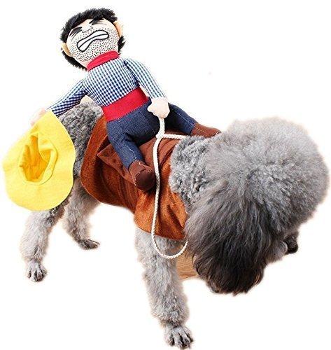 Fancy Me Klein & GROß Haustier Hund Katze bockendes Reiter Wild West Halloween Kostüm Outfit Verkleidung Kleidung S - L - Medium