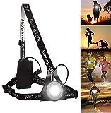 BraceTek Running Light Ricaricabile USB Impermeabile, Lampada per Il Running con 3 modalità, Molto Leggera e Confortevole e Ideale per Running