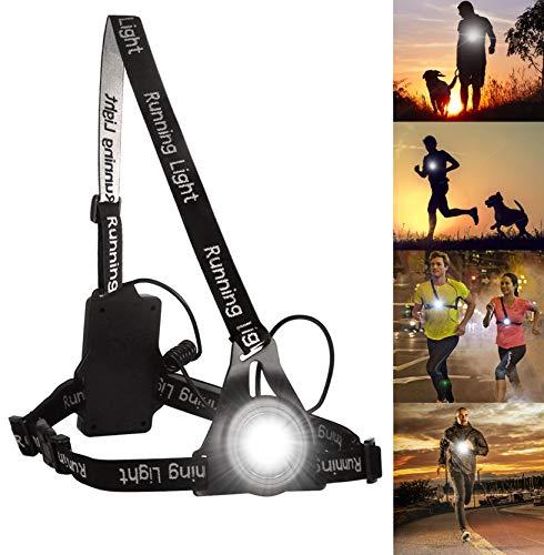 PewinGo Running Light Ricaricabile USB Impermeabile,BraceTek Lampada per Il Running con 3 modalità, Molto Leggera e Confortevole e Ideale per Running