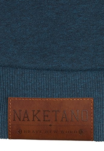 Naketano Male Zipped Jacket Dirty Schwarzkopf Dirty Deep Blue Green Melange