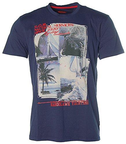 Signum Herren Kurzarm Shirt T-Shirt Rundhals Kahoolawe Yachting Peacoat