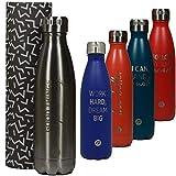 Sternitz Botella de Agua Hydra Acero Inoxidable con Aislamiento al vacio. Mantiene Tus Bebidas frías por 24 Horas y Calientes por 12 Horas. Water Bottle (Metal)