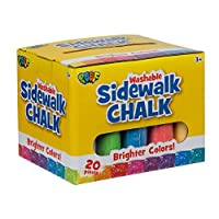 Slinky 209695 Jumbo Sidewalk Chalk 20/Pkg, Multicoloured, 12.16 x 14.7 x 12.16 cm
