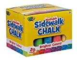 Poof Side Walk Chalk (Multicolor, 20 Pie...