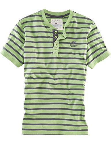 ROADSIGN australia Kurzarm Henley-Shirt Buschi Spirit grün / anthrazit
