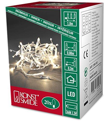 Konstsmide 3180-103 - Guirnalda LED para el árbol de navidad (perlas de...