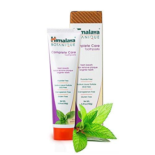 Himalaya Botanique Toothpaste - Simply Spearmint 150g - Natürliche Zahnpasta ohne Fluorid, SLS, Gluten und Carrageenan - Entfernt Plaque und Mundgeruch, verhindert Karies und Zahnfleischbluten