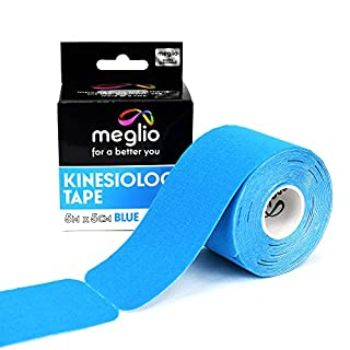Pre Cut Kinesiology Tape - Support Muscles during Sports, Fitness Workouts & Recovery from Sporting Injuries - 5 Metre x 5 cm Roll 25cm Pre Cut Strips - Latex Free & Water Resistant