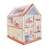 Kinder Spielzelt Tierklinik, für drinnen und draußen, 95cm lang, 72cm breit, 102cm hoch