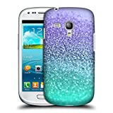 Head Case Designs Offizielle Monika Strigel Lavendel Glitzer Sammlung Ruckseite Hülle für Samsung Galaxy S3 III Mini