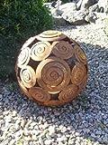 EDELROST - Kugel Schneckenkugel Dekokugel Windlicht 28 cm Garten Eisen Rost