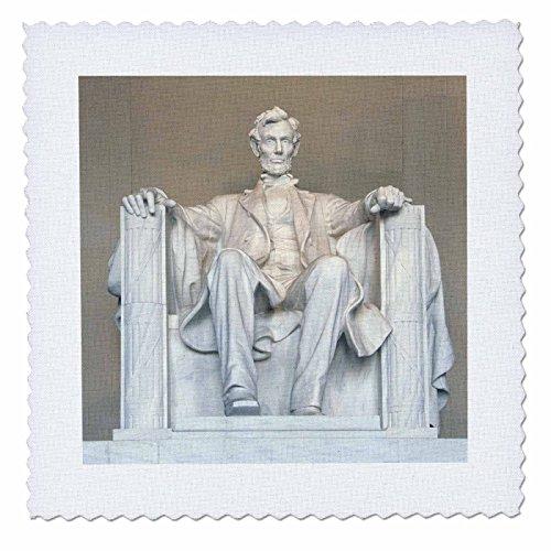 3dRose Abraham Lincoln Memorial, Washington DC-US09rkl0011-Raymond Klass, Quilt, Platz, 12von 12Zoll (QS 88995_ 4) Memorial Quilt