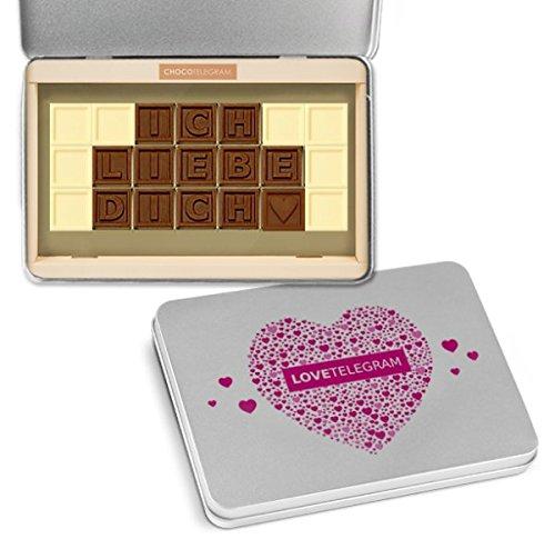ICH LIEBE DICH - ChocoTelegram - LOVE TELEGRAM  - Schokoladenbotschaft | Ich liebe dich Schokolade | Valentinstag | Liebesgeschenk | Liebesgeschenke | Frauen | Männer | Frau | Mann | Freund | Freundin