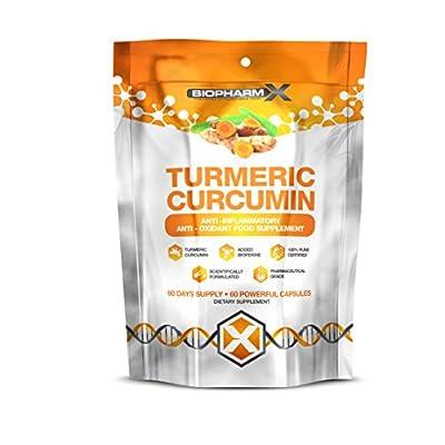 Organic Turmeric Curcumin 14,000MG (+ Bioperine) 100% Pure Certified, 100% Natural, Maximum Strength (60 Capsules) by Biogen Health Science