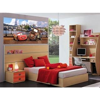 AG Design FTDh 0603  Cars Disney Paris, Papier Fototapete Kinderzimmer - 202x90 cm - 1 Teil, Papier, multicolor, 0,1 x 202 x 90 cm