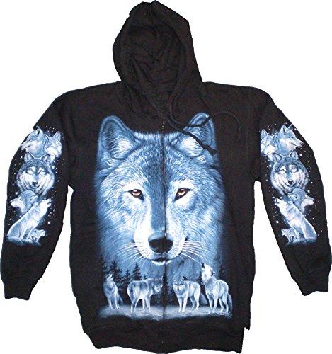 men-Jacken Kaputzen-Pullover Jacke S-XL black Sherpa Hoodie Sweatshirt Kaputzen Pulli #8: Größe: L 4892 (Känguru Kostüm Mit Tasche)